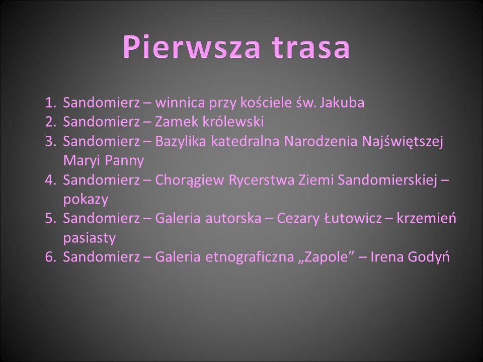 Pierwsza trasa Sandomierz – winnica przy kościele św. Jakuba
