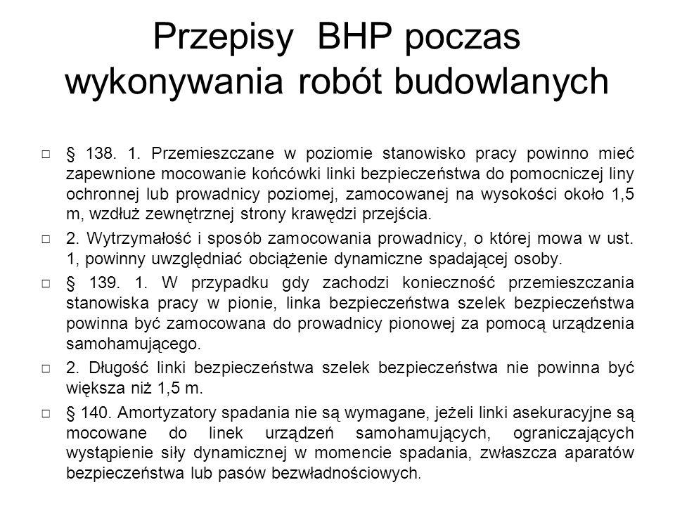 Przepisy BHP poczas wykonywania robót budowlanych