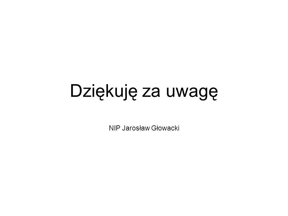 Dziękuję za uwagę NIP Jarosław Głowacki
