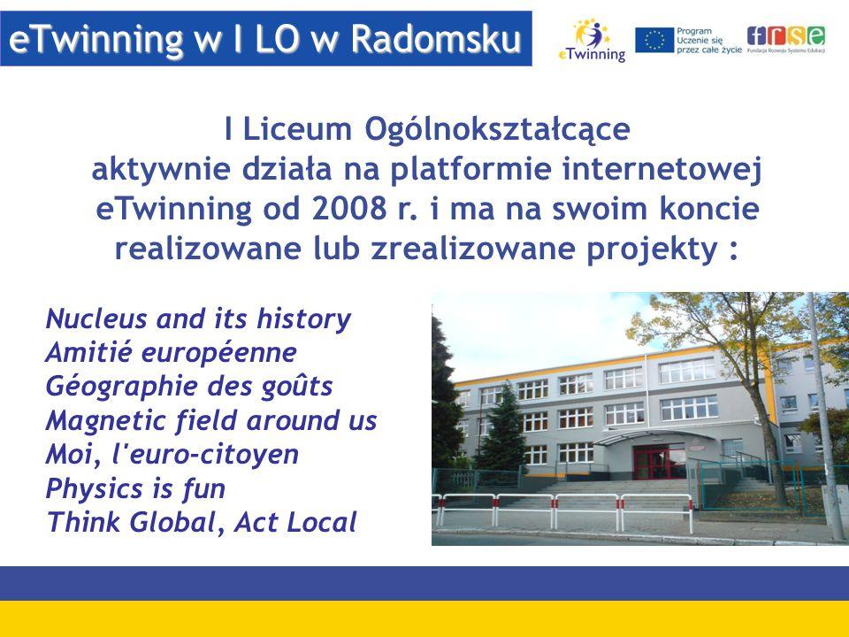 eTwinning w I LO w Radomsku