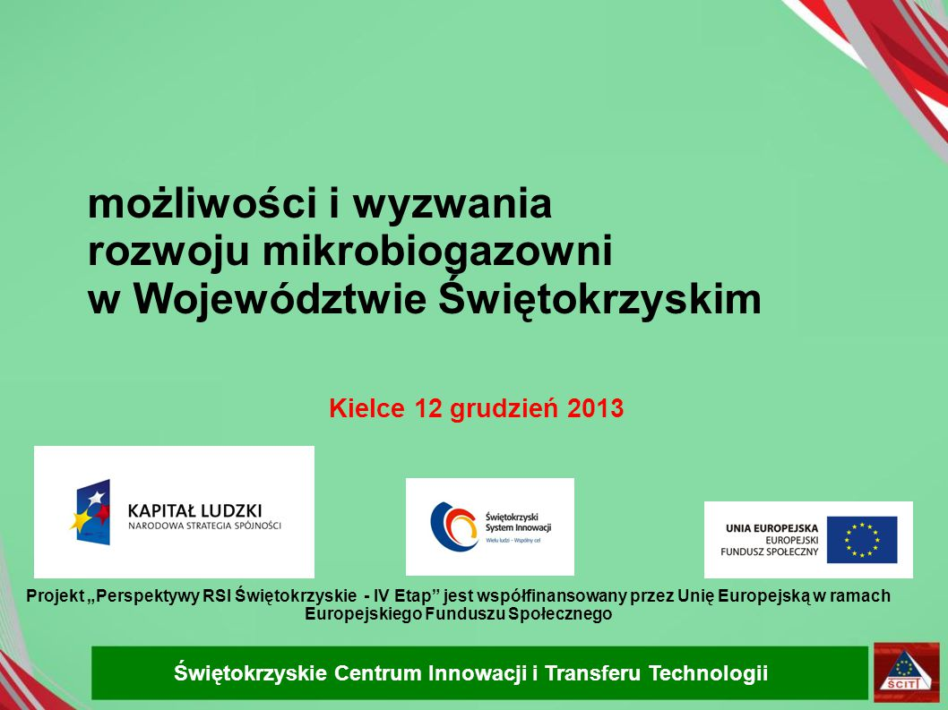 rozwoju mikrobiogazowni w Województwie Świętokrzyskim