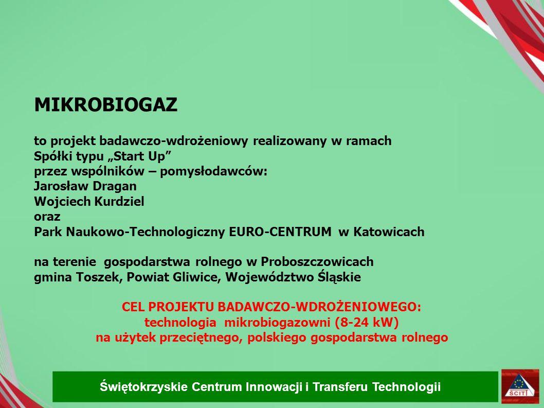 MIKROBIOGAZ to projekt badawczo-wdrożeniowy realizowany w ramach