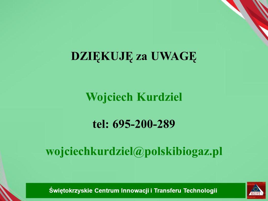 DZIĘKUJĘ za UWAGĘ Wojciech Kurdziel tel: 695-200-289
