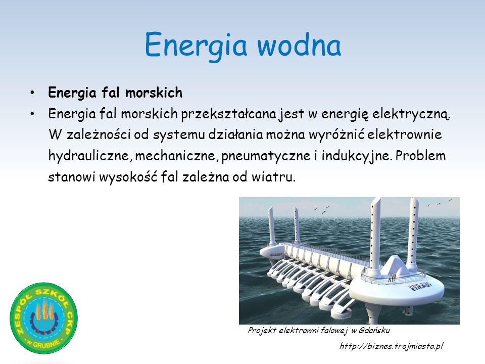 Energia wodna Energia fal morskich