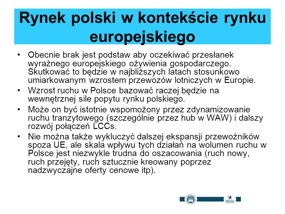 Rynek polski w kontekście rynku europejskiego