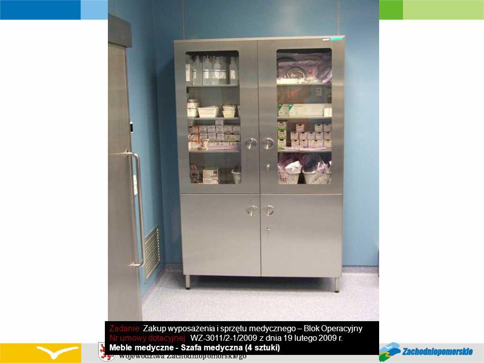Zadanie: Zakup wyposażenia i sprzętu medycznego – Blok Operacyjny