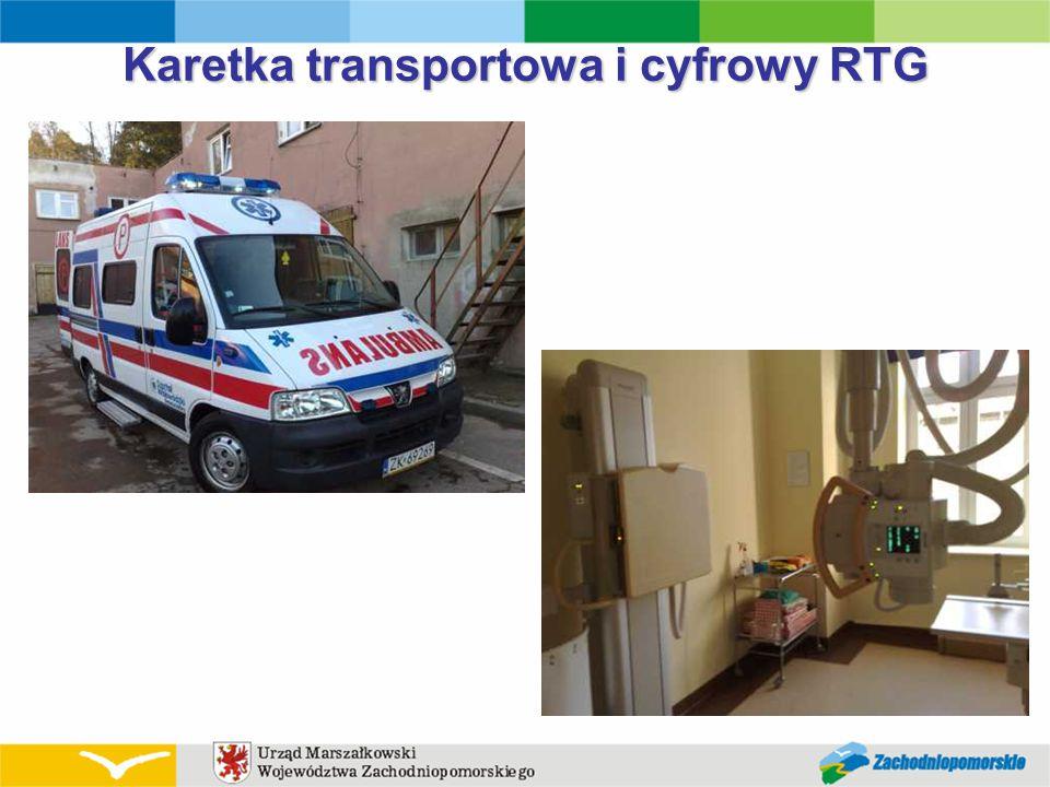 Karetka transportowa i cyfrowy RTG