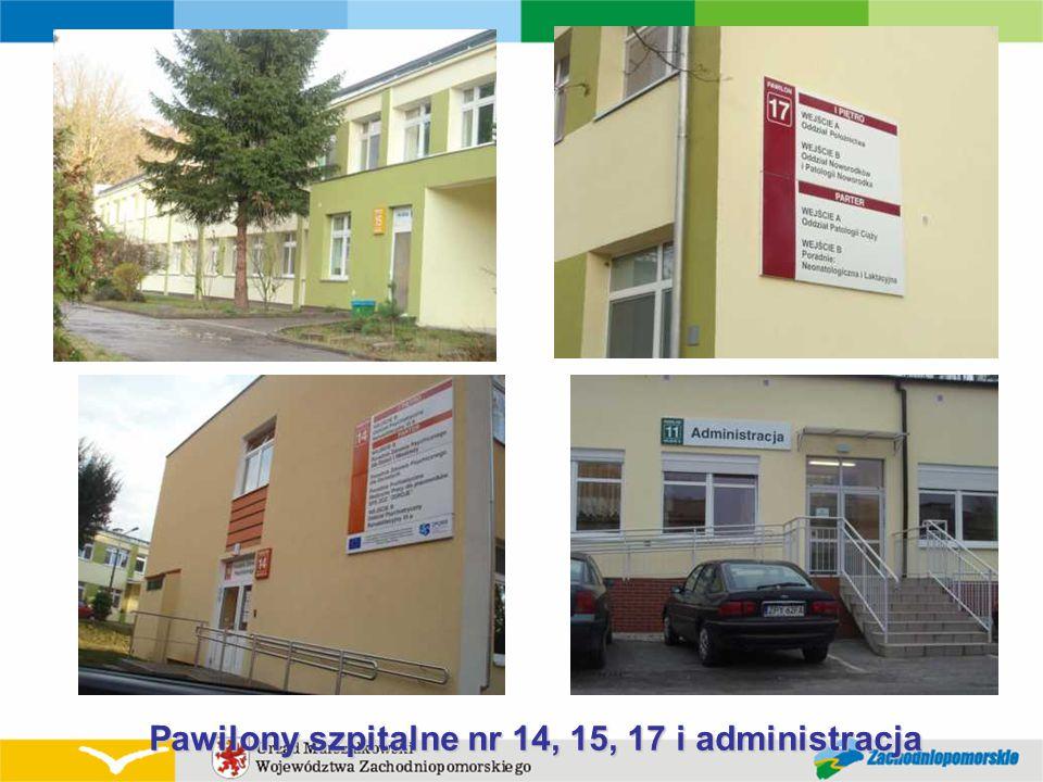 Pawilony szpitalne nr 14, 15, 17 i administracja