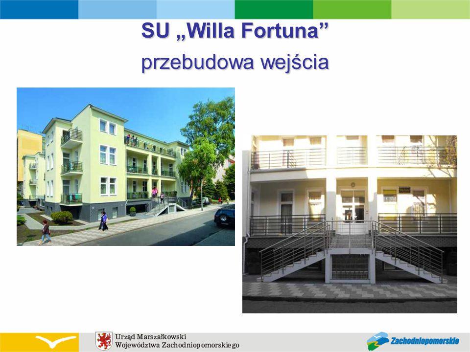 """SU """"Willa Fortuna przebudowa wejścia"""