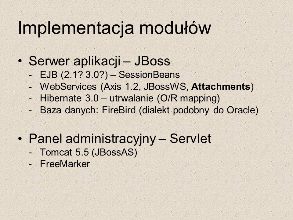 Implementacja modułów