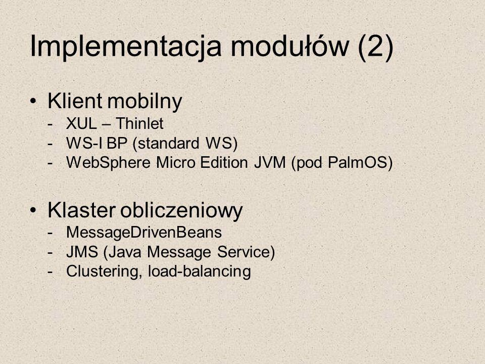 Implementacja modułów (2)