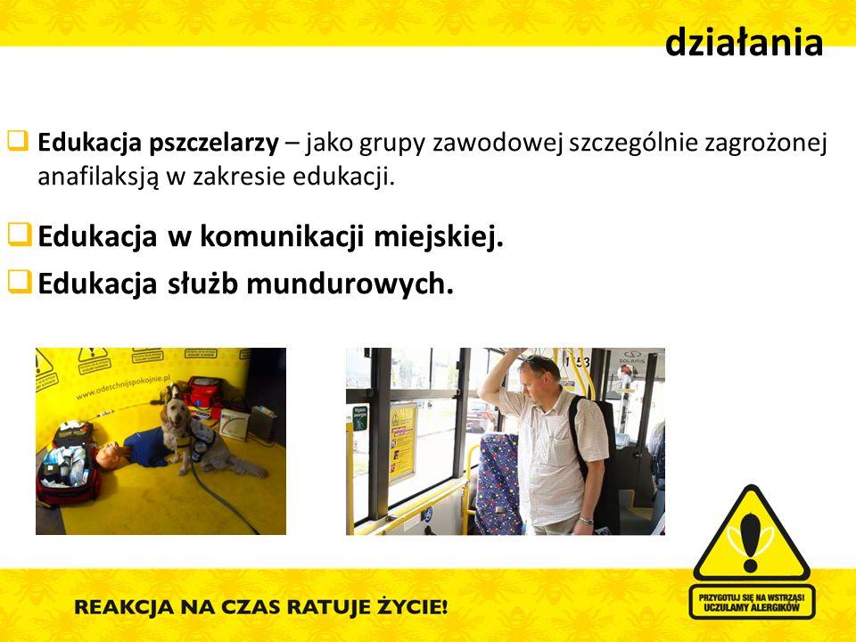 działania Edukacja w komunikacji miejskiej.