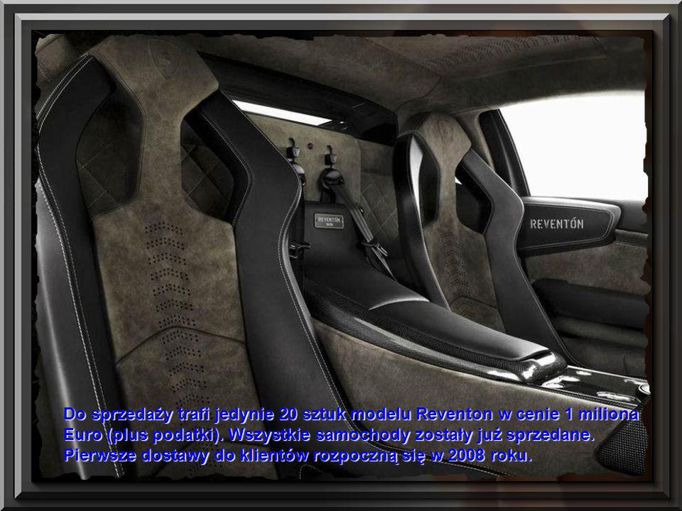 Do sprzedaży trafi jedynie 20 sztuk modelu Reventon w cenie 1 miliona Euro (plus podatki).