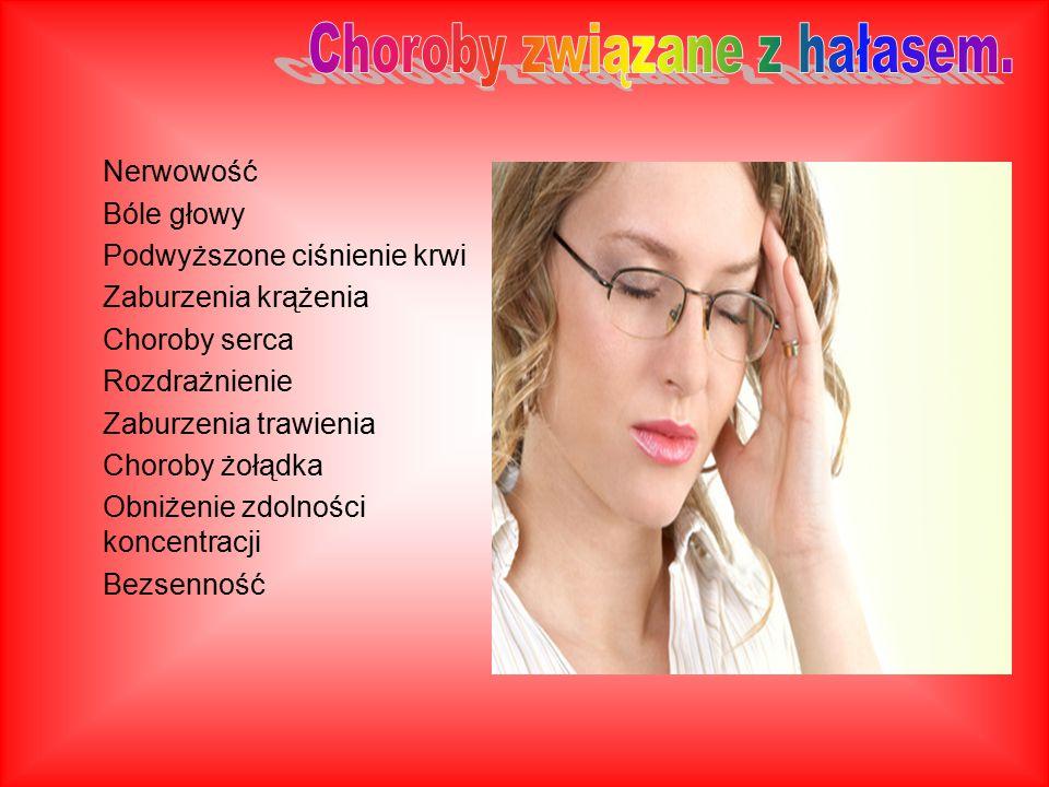 Choroby związane z hałasem.