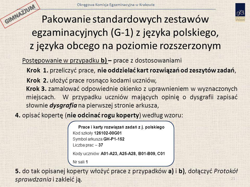 Prace i karty rozwiązań zadań z j. polskiego