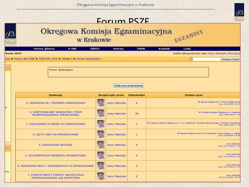 Forum PSZE Nazwa użytkownika i hasło to kod szkoły: np. 120304-05P06