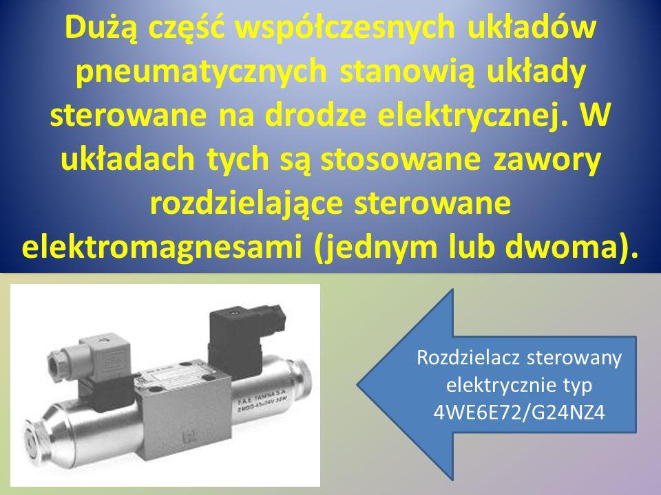 Rozdzielacz sterowany elektrycznie typ 4WE6E72/G24NZ4
