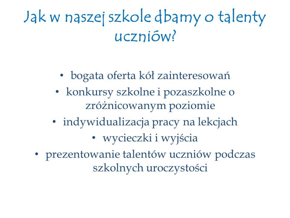 Jak w naszej szkole dbamy o talenty uczniów