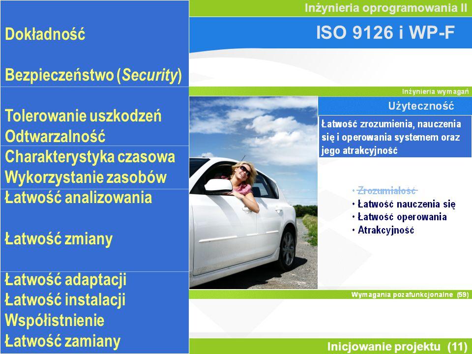 ISO 9126 i WP-F Odpowiedniość Dokładność Inter-operacyjność