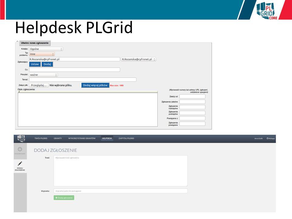 Helpdesk PLGrid Prosty system dla Użytkownika