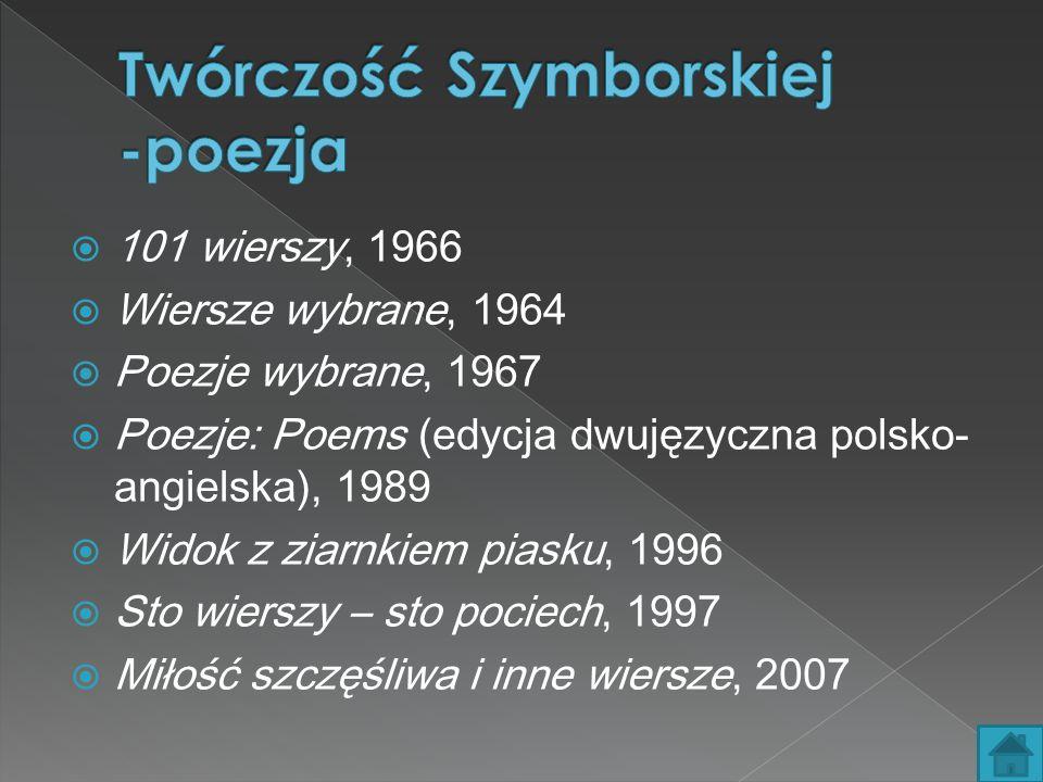 Twórczość Szymborskiej -poezja