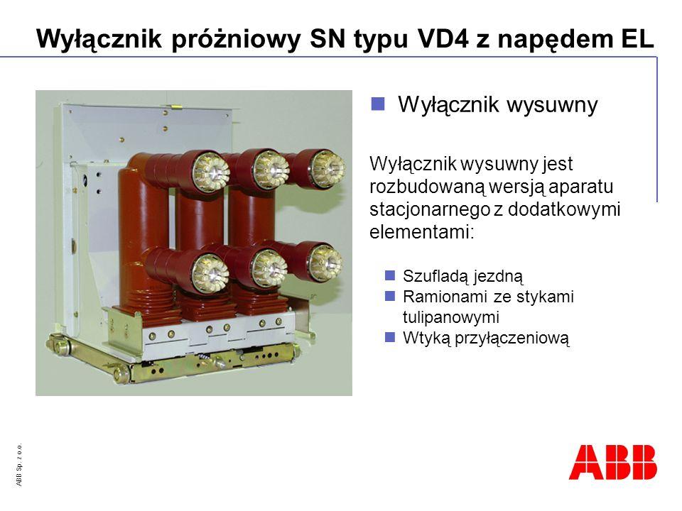 Wyłącznik wysuwny Wyłącznik wysuwny jest rozbudowaną wersją aparatu stacjonarnego z dodatkowymi elementami: