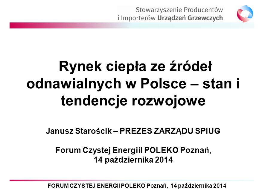 Rynek ciepła ze źródeł odnawialnych w Polsce – stan i tendencje rozwojowe