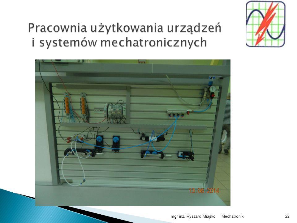 Pracownia użytkowania urządzeń i systemów mechatronicznych