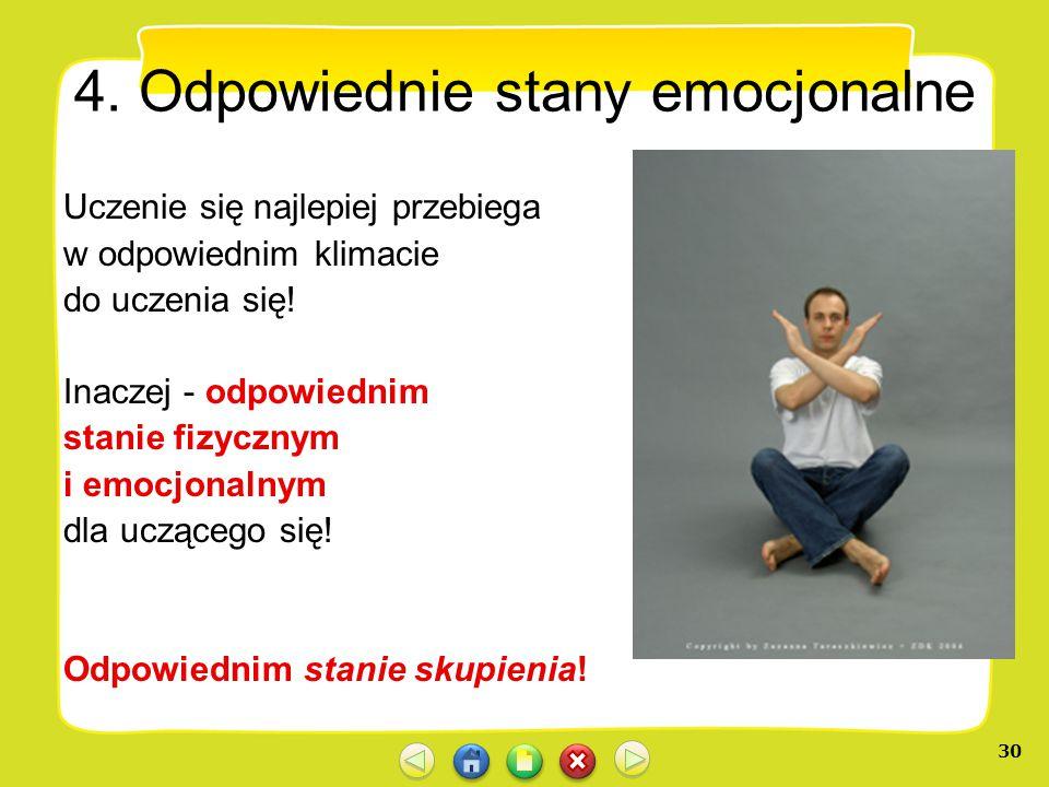 4. Odpowiednie stany emocjonalne