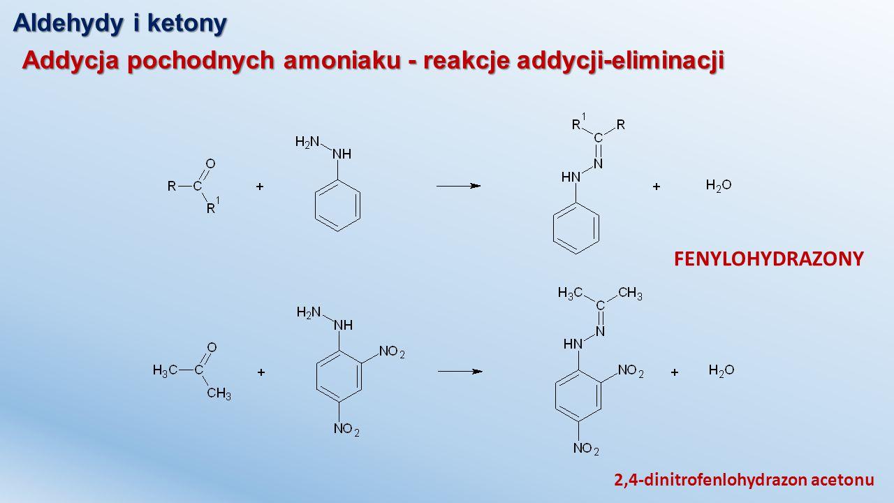 Addycja pochodnych amoniaku - reakcje addycji-eliminacji