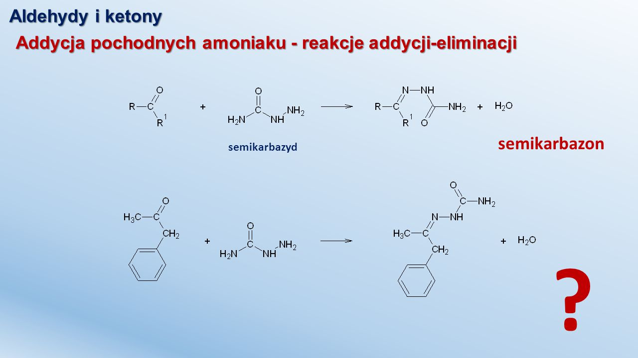 semikarbazon Aldehydy i ketony