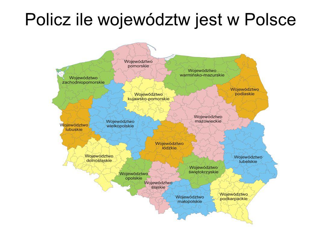 Policz ile województw jest w Polsce