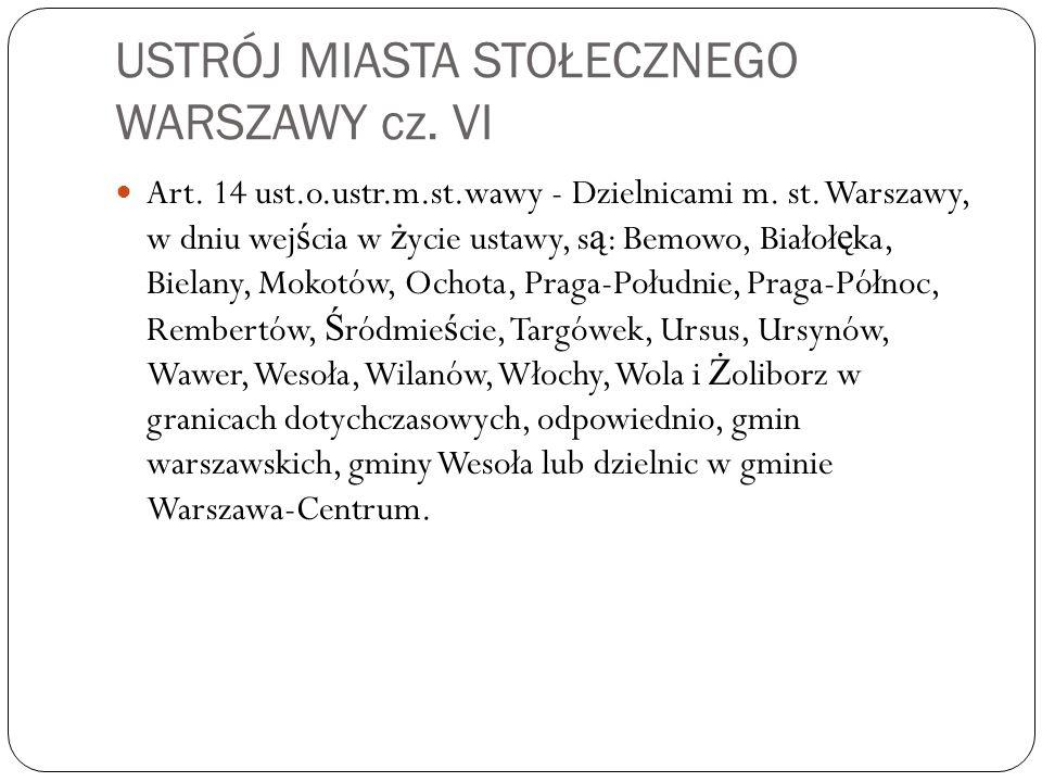 USTRÓJ MIASTA STOŁECZNEGO WARSZAWY cz. VI