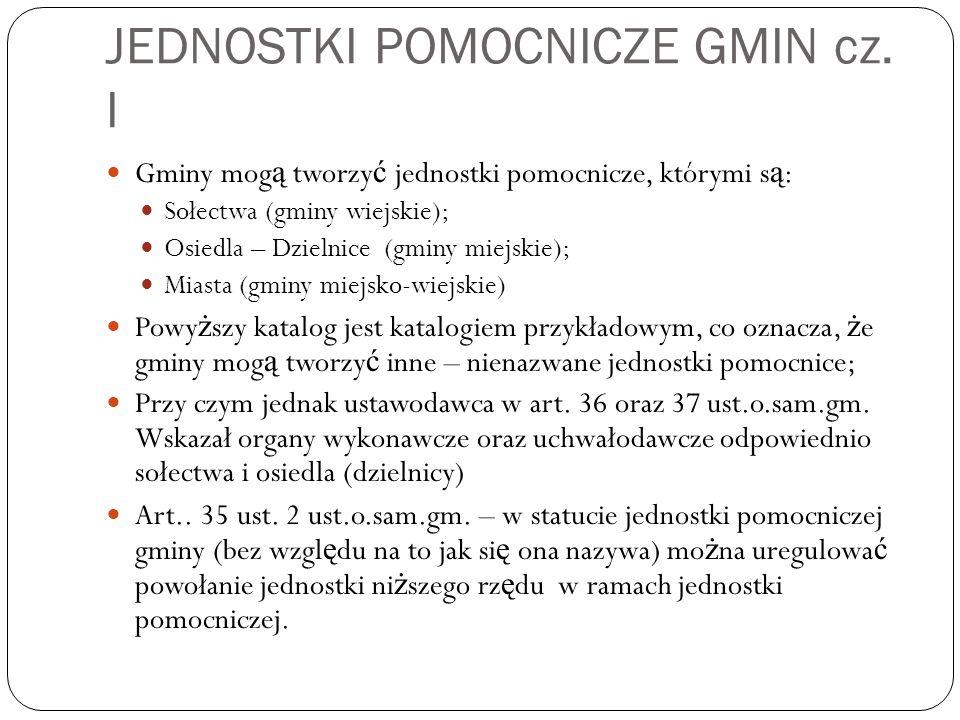 JEDNOSTKI POMOCNICZE GMIN cz. I