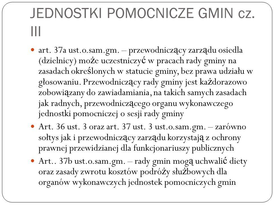JEDNOSTKI POMOCNICZE GMIN cz. III