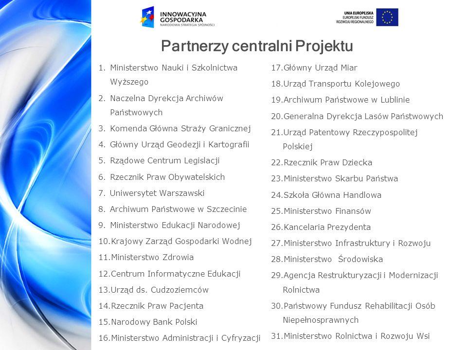 Partnerzy centralni Projektu