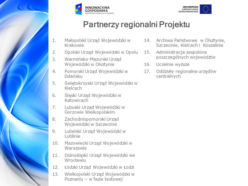 Partnerzy regionalni Projektu
