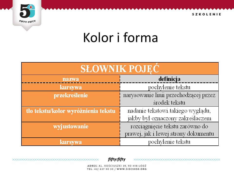 Kolor i forma