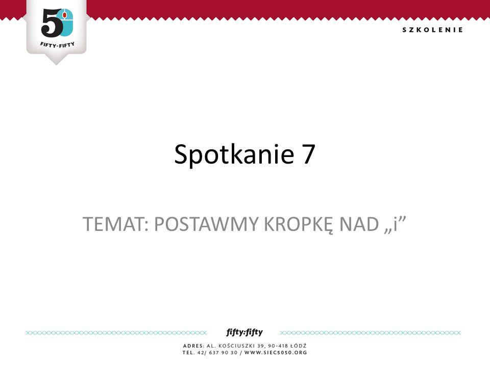 """TEMAT: POSTAWMY KROPKĘ NAD """"i"""