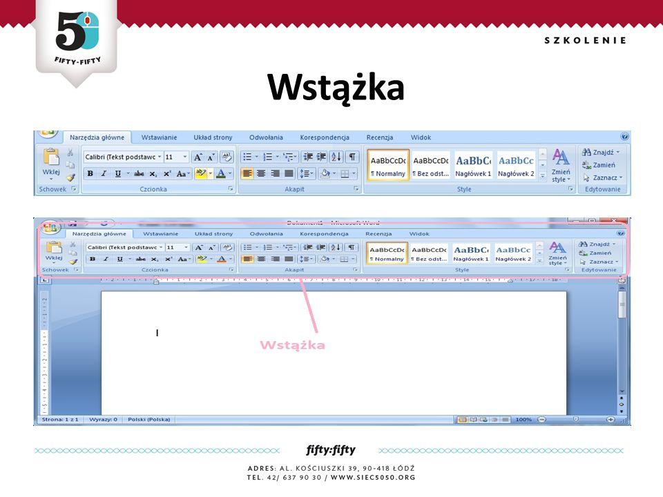 Wstążka Jest zaawansownym edytorem tekstu, który zawiera rozbudowany zestaw narzędzi do tworzenia różnego rodzaju dokumentów.