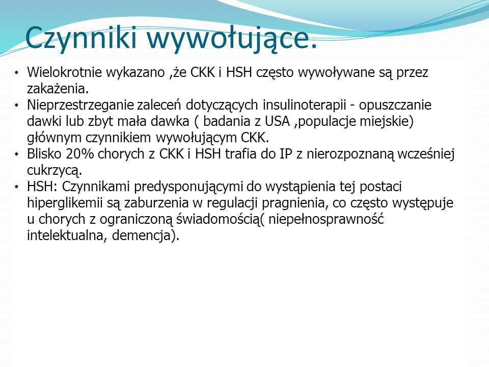 Czynniki wywołujące. Wielokrotnie wykazano ,że CKK i HSH często wywoływane są przez zakażenia.