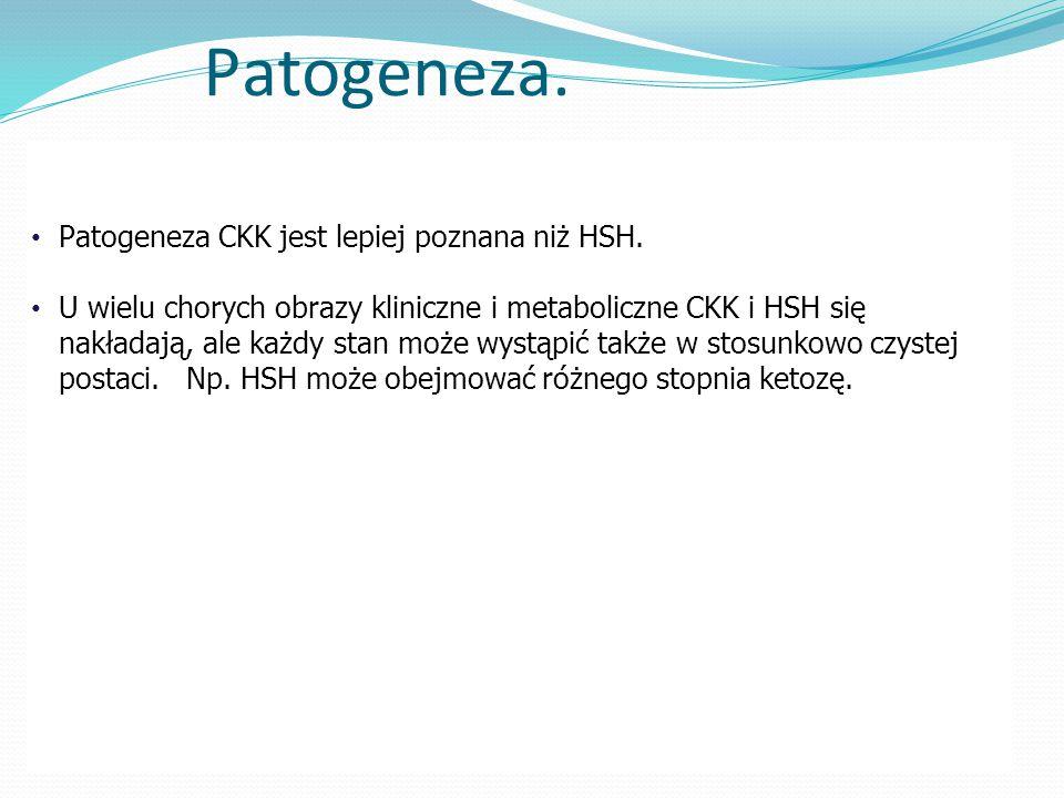 Patogeneza. Patogeneza CKK jest lepiej poznana niż HSH.