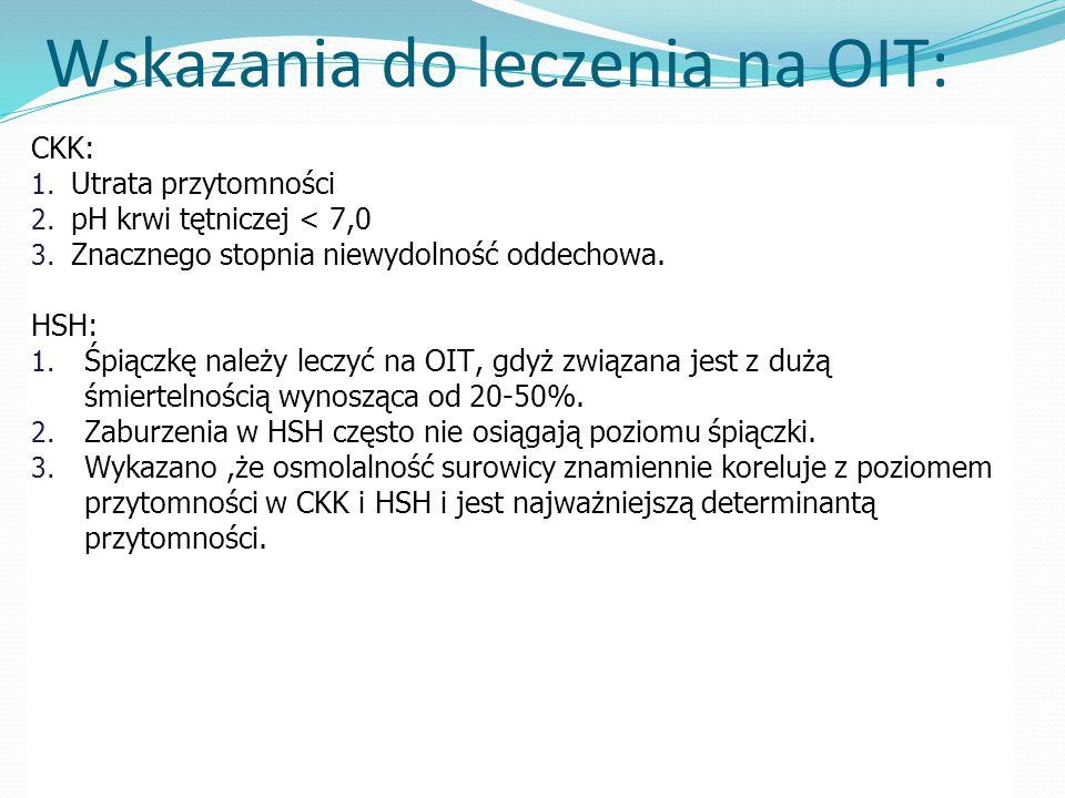 Wskazania do leczenia na OIT: