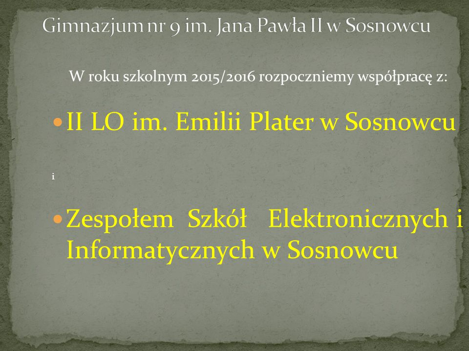 II LO im. Emilii Plater w Sosnowcu