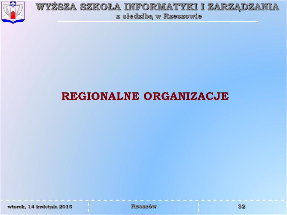 REGIONALNE ORGANIZACJE