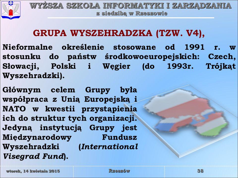 GRUPA WYSZEHRADZKA (TZW. V4),