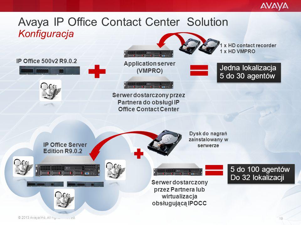 Avaya IP Office Contact Center Solution Konfiguracja