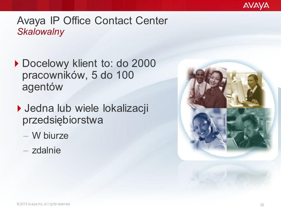 Avaya IP Office Contact Center Skalowalny
