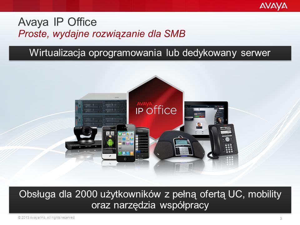 Avaya IP Office Proste, wydajne rozwiązanie dla SMB