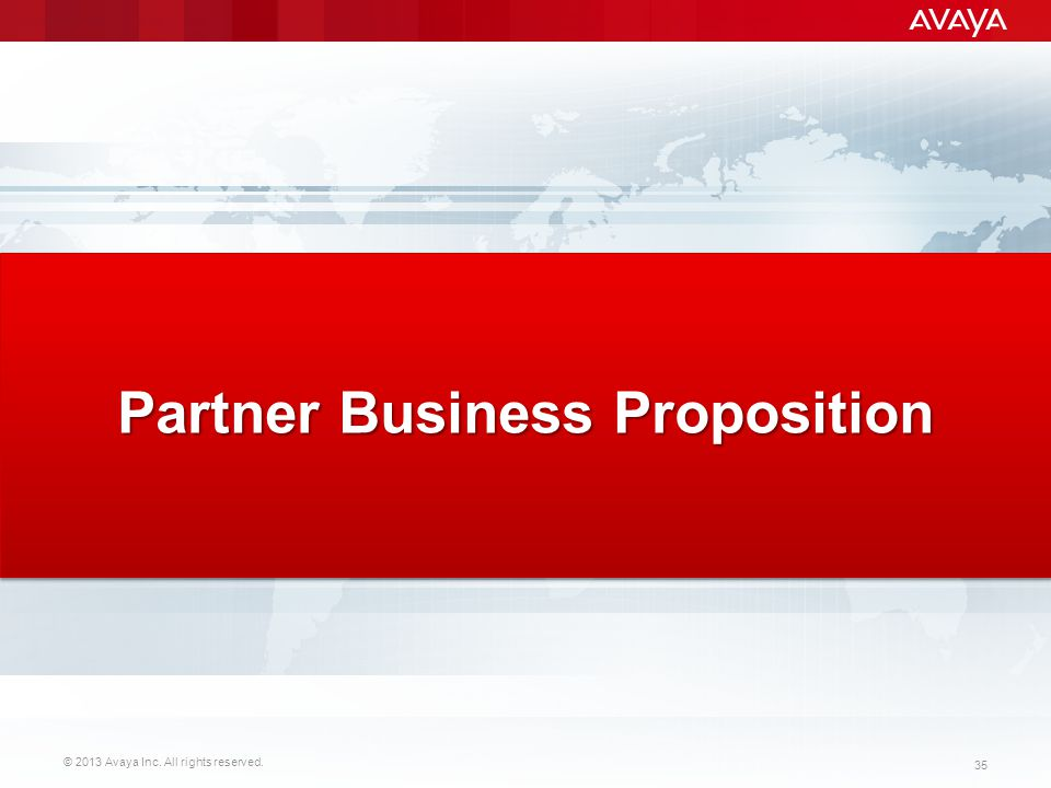Partner Business Proposition